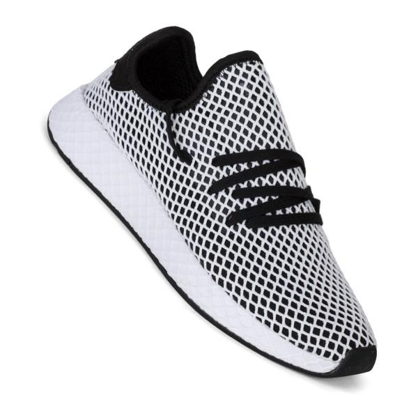 34f6c1afcbd0b Adidas Deerupt Runner black white Herren Sneaker weiß schwarz royal ...