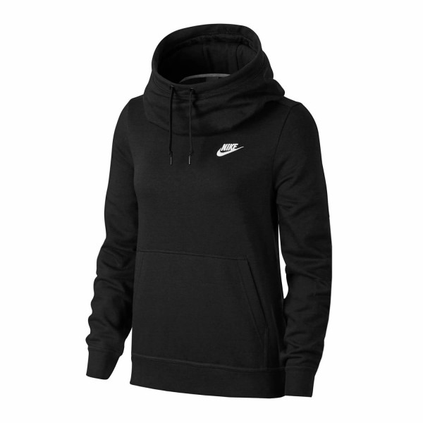 on sale 090d3 0c33e Nike Funnel Neck Damen Hoodie schwarz