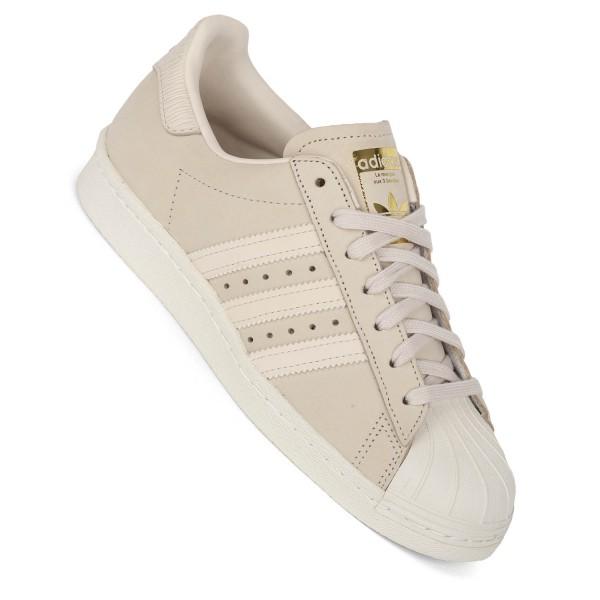 Adidas Damen Superstar 80s W linen beige altrosa