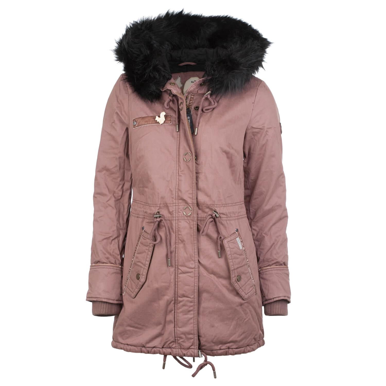 Khujo Dorota Damen Mantel alt rosa tapioca