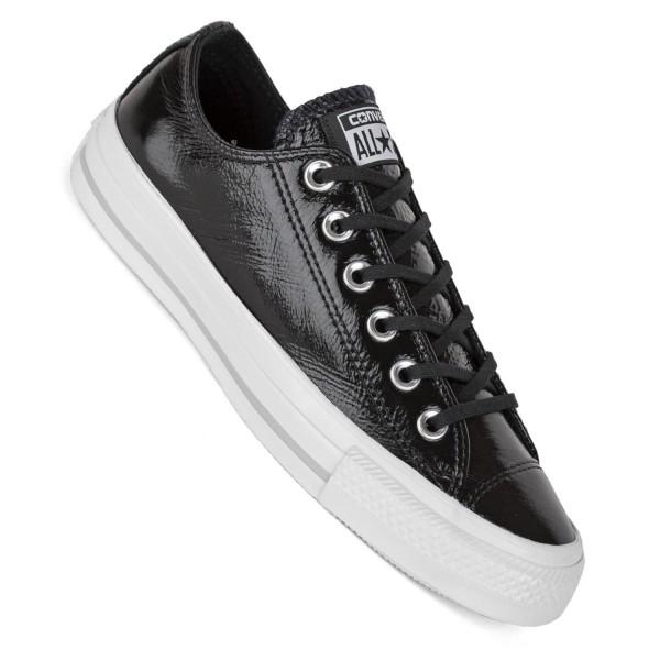 Converse Chucks Low schwarz weiß Damen Sneaker Leder