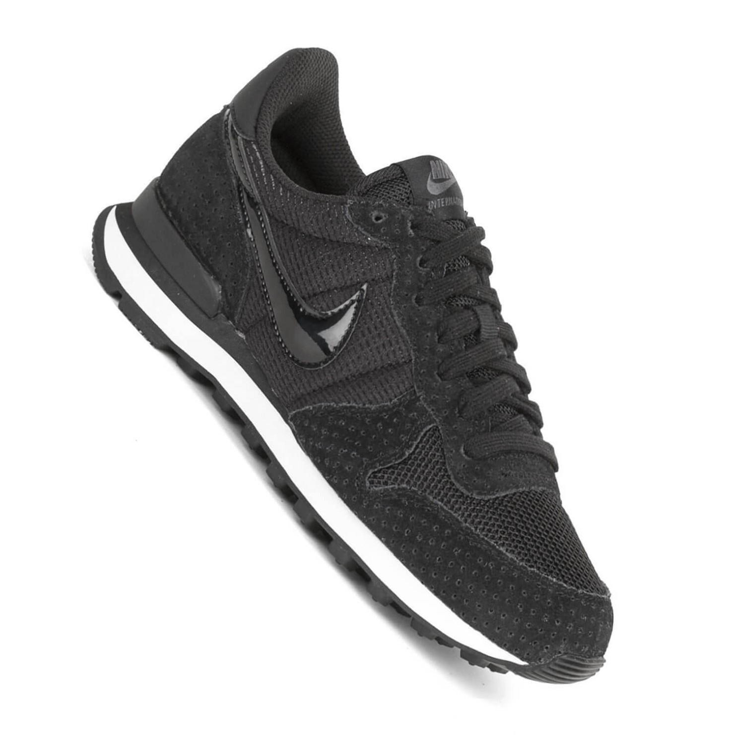 nike wmns internationalist damen sneaker black black. Black Bedroom Furniture Sets. Home Design Ideas