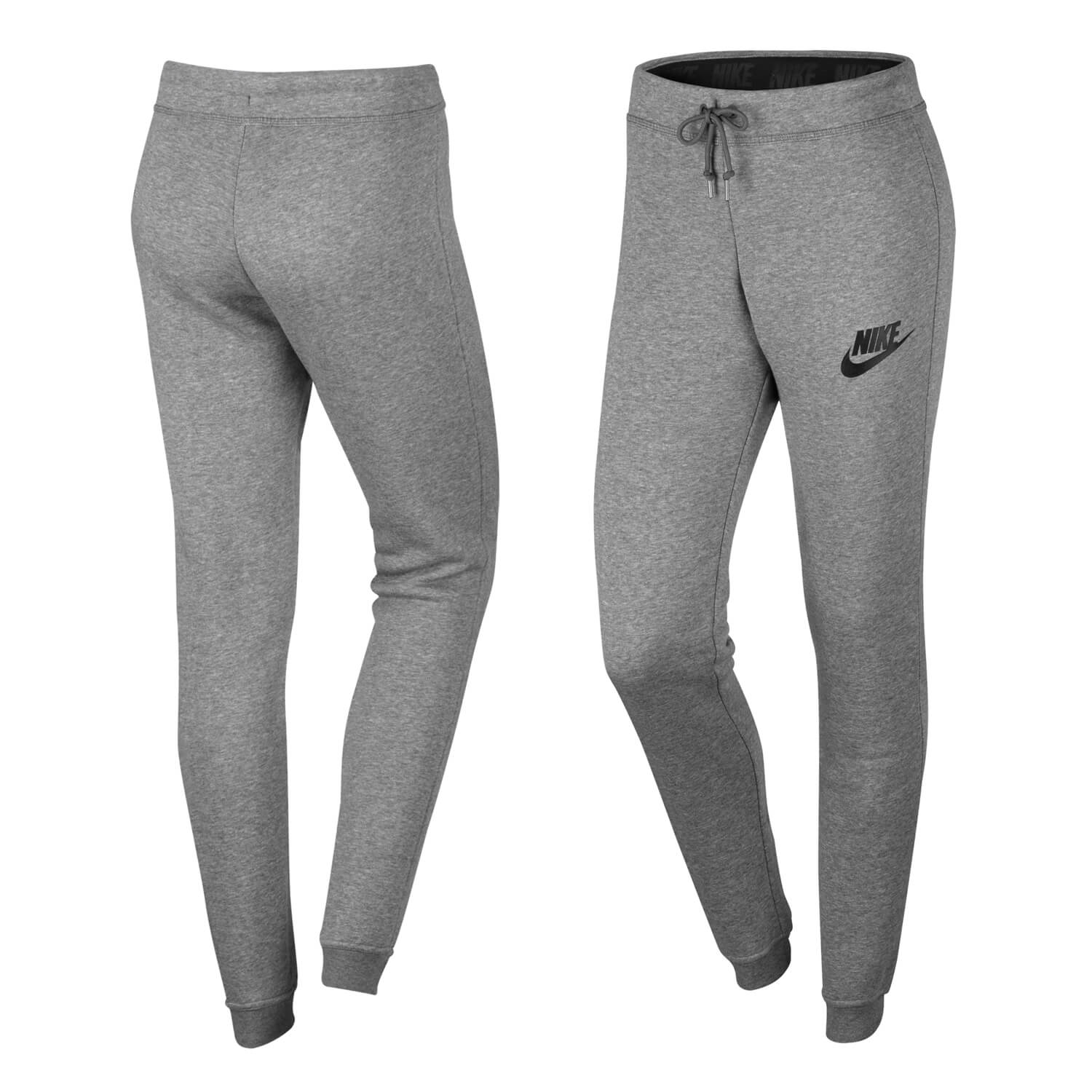 nike rally tight pant carbon heather grau damen. Black Bedroom Furniture Sets. Home Design Ideas