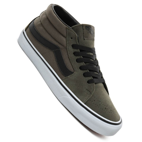 reputable site 0755c 2cfe4 Vans Sk8-Mid grape leaf Herren Skate Schuhe oliv grün