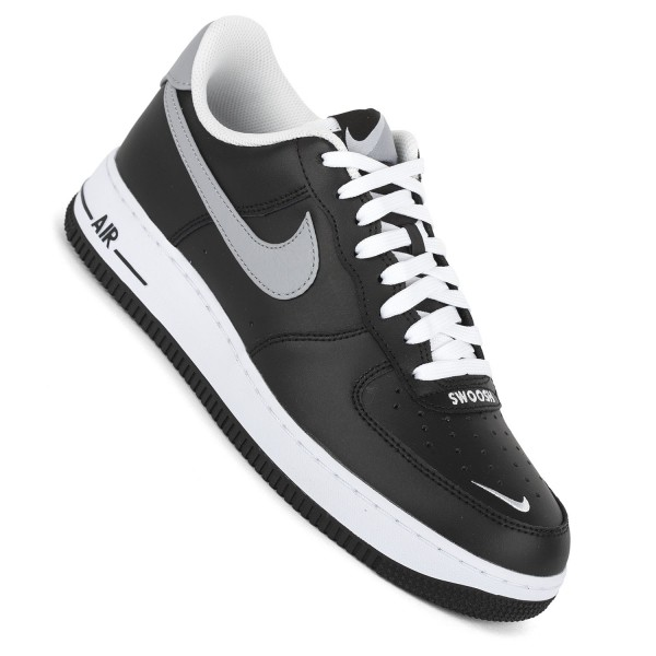 Nike Herren Sneaker Air Force1 Low 07 LV8 blackgreywhite