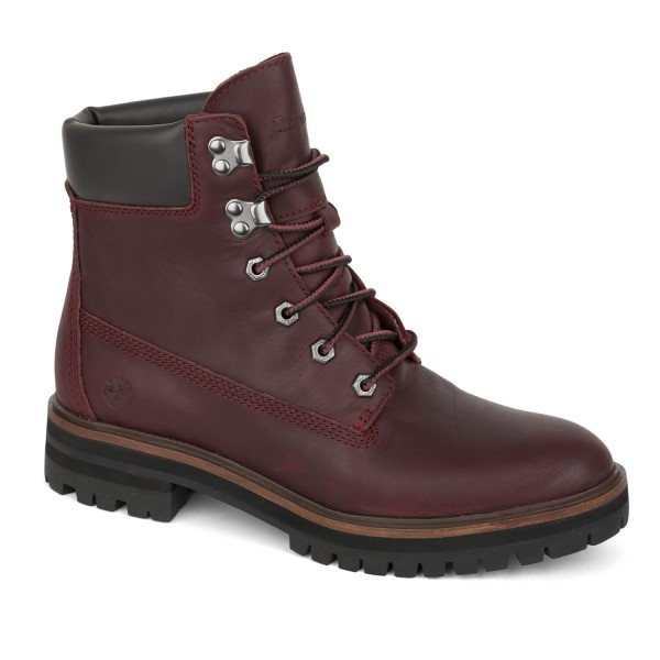 Timberland Damen Stiefel rot London Square 6 Inch Boots