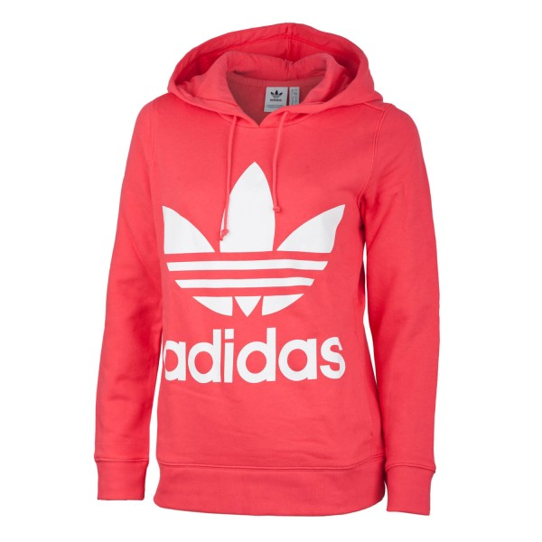 brand new 5d78f 66afd Adidas Trefoil Damen Hoodie core pink