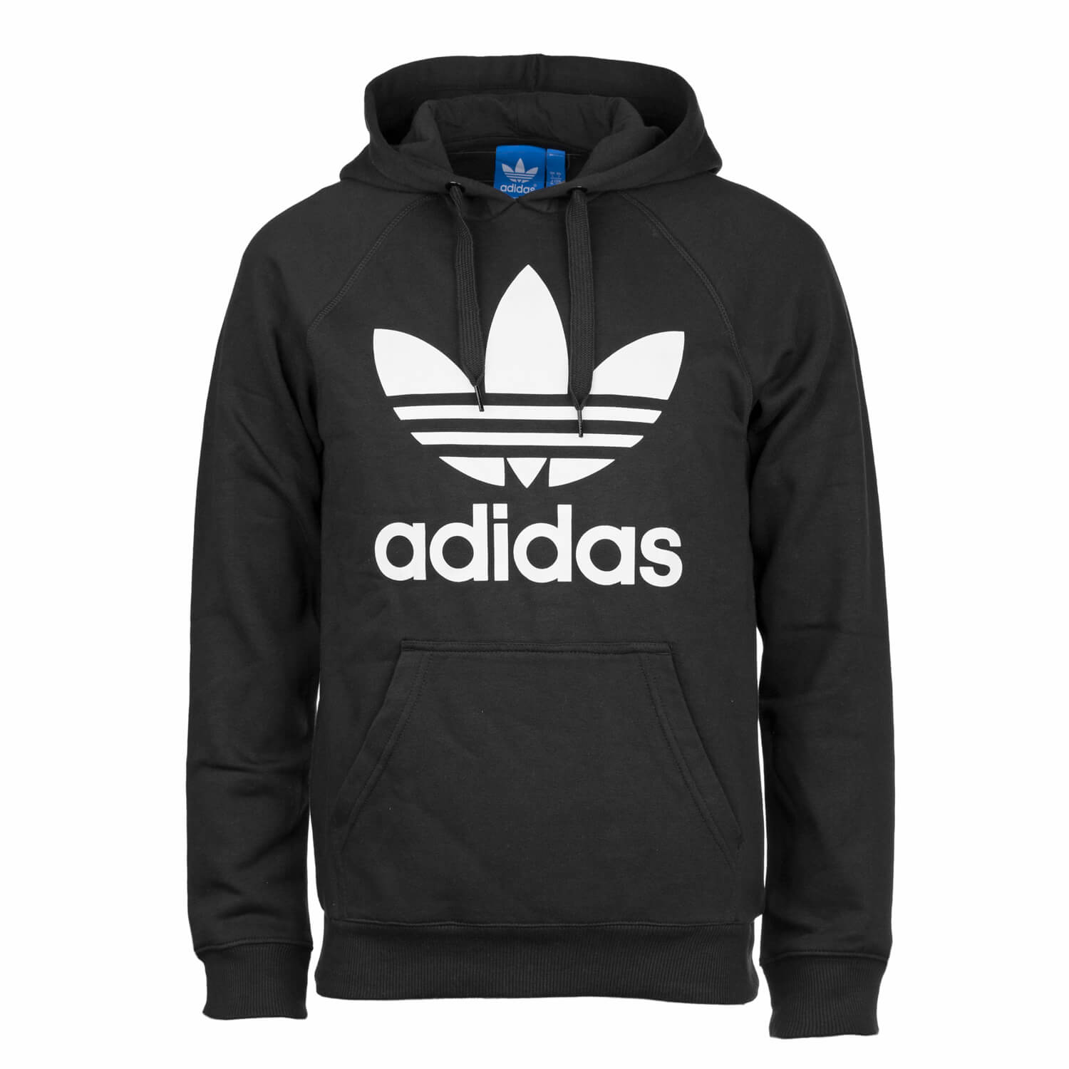 adidas originals trefoil hoody schwarz wei herren kapuzenpullover mit adidas logo drop. Black Bedroom Furniture Sets. Home Design Ideas