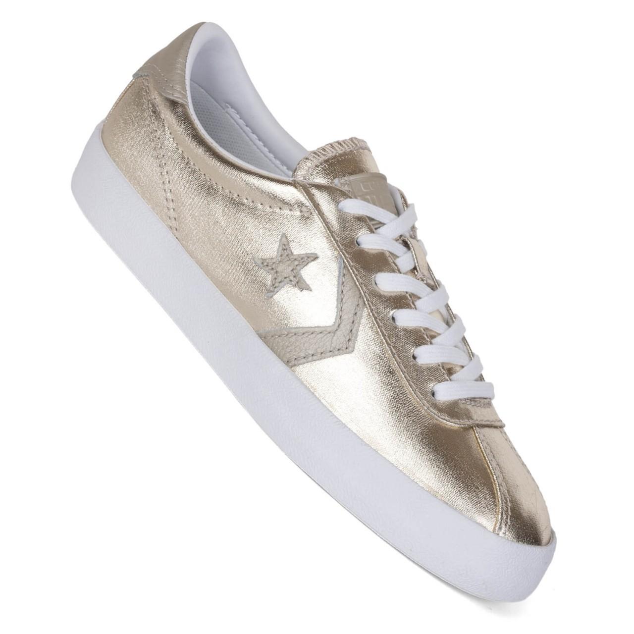 Converse Breakpoint ox light gold - Damen Sneaker im Metallic Look