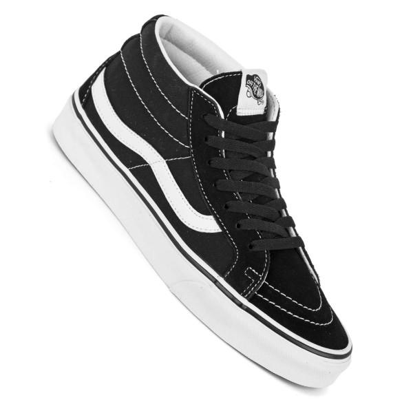 Vans Sk8-Mid Reissue schwarz weiß Herren Sneaker