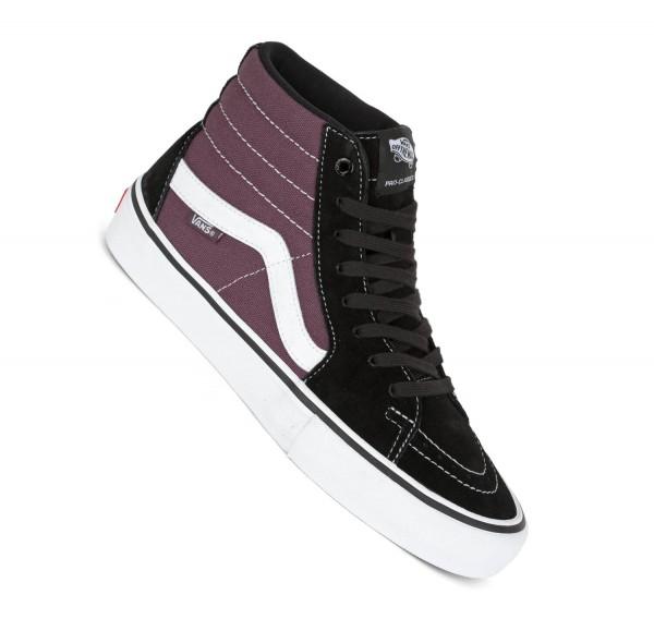 Vans Sk8-Hi Pro Skate Schuhe black raisin