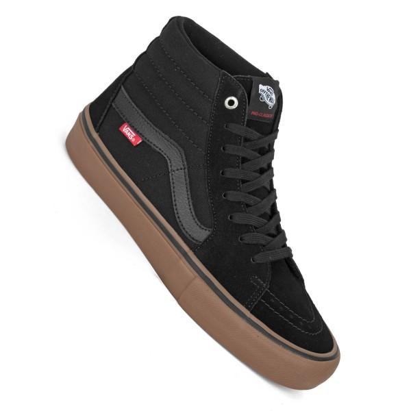 Vans Sk8-Hi Pro black gum Skate Schuhe schwarz