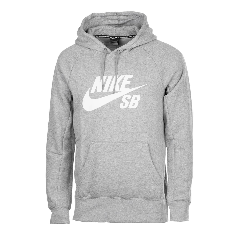 24784ece5dc30 Nike SB Icon Hoodie grau - Herren Kapuzenpullover mit Nike SB Logo ...