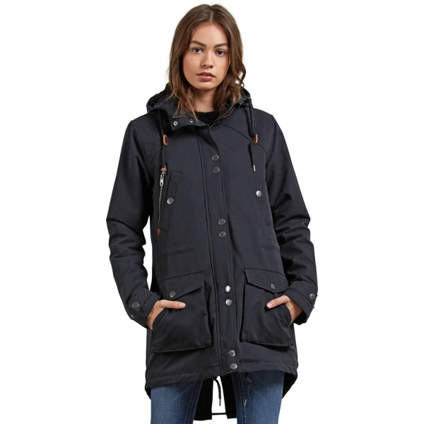 online store 9f647 da4e0 Volcom Walk On By Parka schwarz Damen Mantel