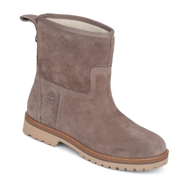 93b0e4b46de400 Timberland Chamonix Winter Boots taupe suede Damen Stiefel Fell ...