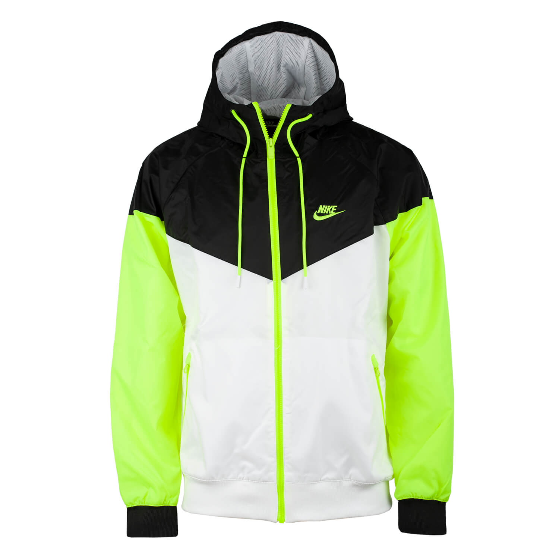 Nike Windrunner Jacke Herren Windbreaker Jacket schwarz weiss neon gelb