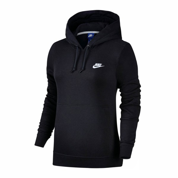 4484bdf181a9e Nike Sportswear Damen Hoodie schwarz Kapuzen Pullover mit Fleece ...