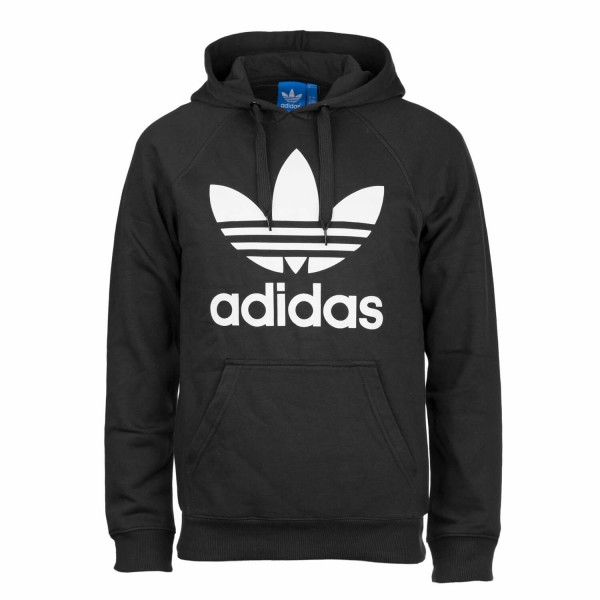 f2c1f73bd13a Adidas Originals Trefoil Hoody schwarz weiß Herren Kapuzenpullover ...