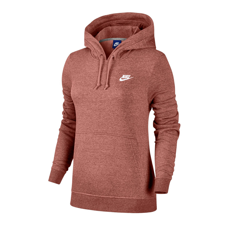 Neu Nike Sportswear Damen Hoodie rust pink heather großer
