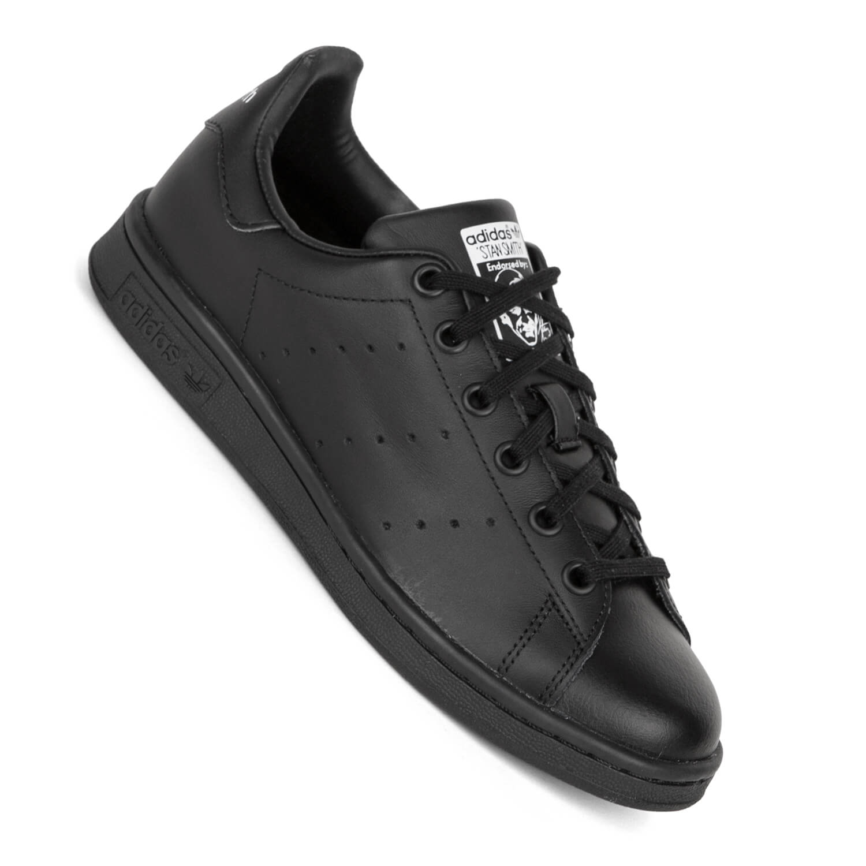 adidas stan smith j black black white m20604 damen kinder. Black Bedroom Furniture Sets. Home Design Ideas