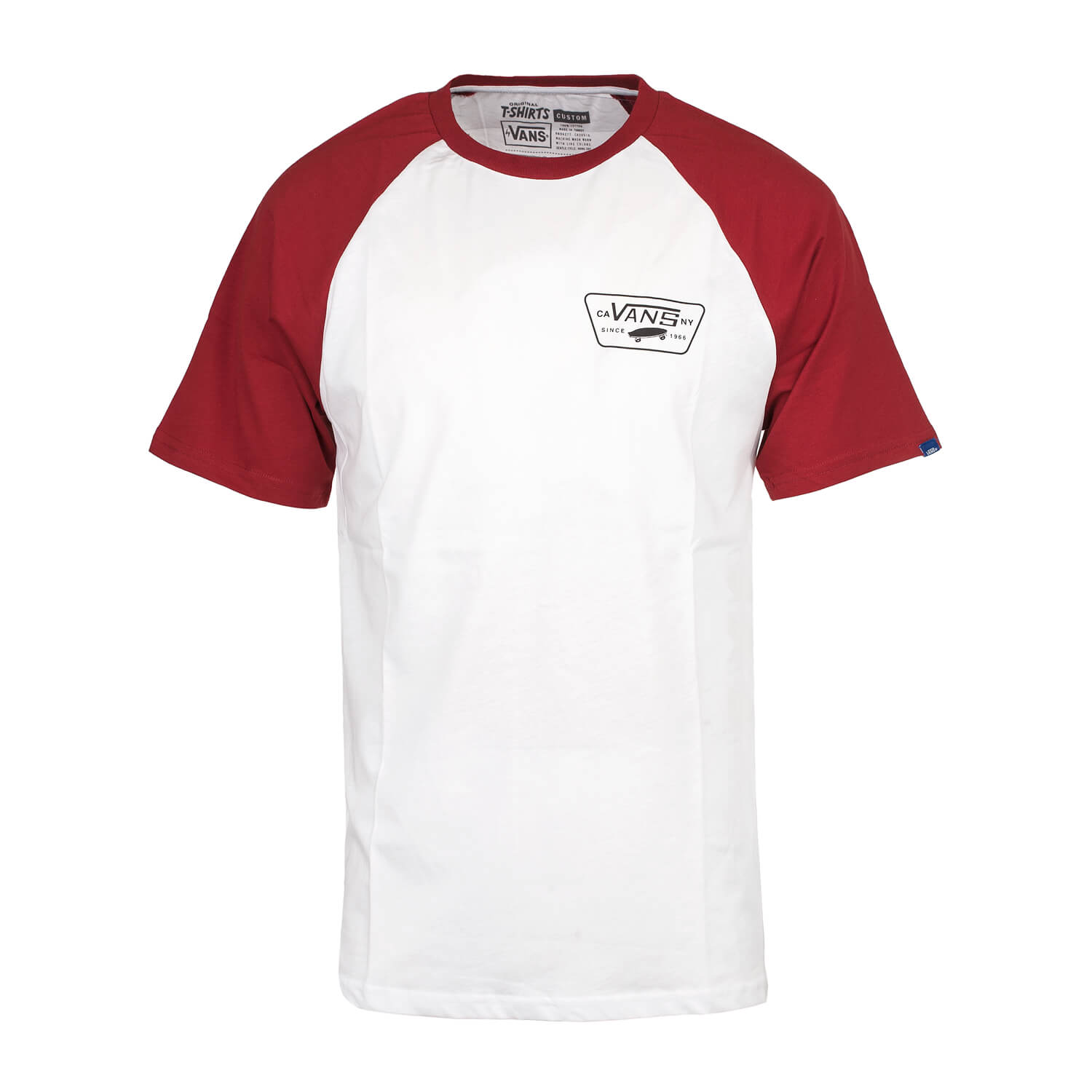 dc661a210faa Vans Full Patch Raglan T-Shirt weiß rot - Herren Old School T Shirt  white red   DROP-IN.de